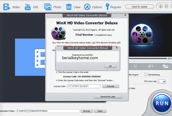 WinX HD Video Converter Deluxe Key