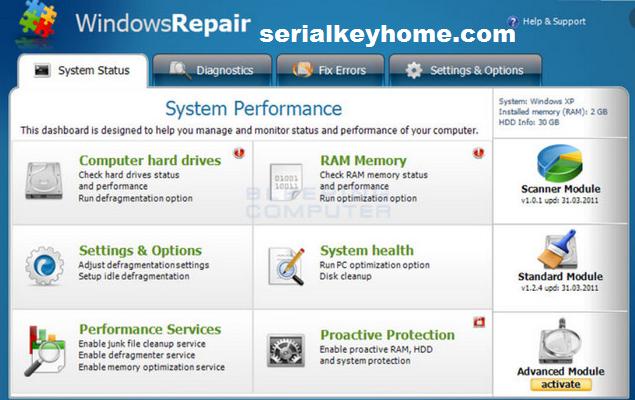 Windows Repair Key